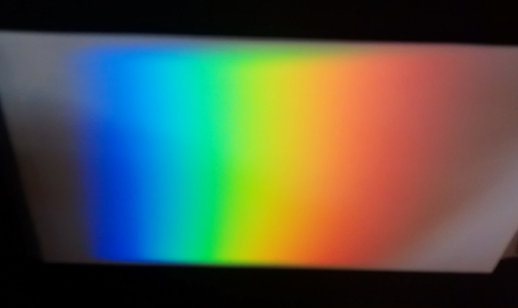 A home-built spectrometer revealing the colour composition of white light.