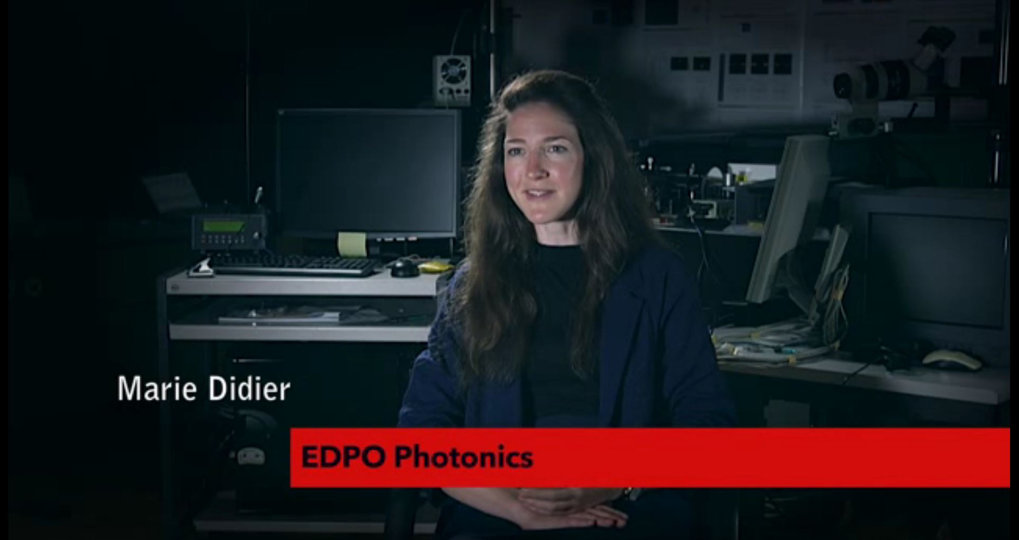 Website:  http://phd.epfl.ch/EDPO   Date: May 2016   Location: EPFL, Lausanne, Switzerland  Participant(s): Marie Didier   Description: Marie Didier participated in a testimonial video for the Photonics School at EPFL.
